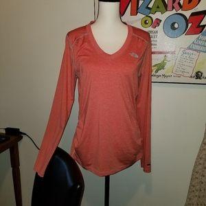 The North Face long sleeve RDT V- neck shirt
